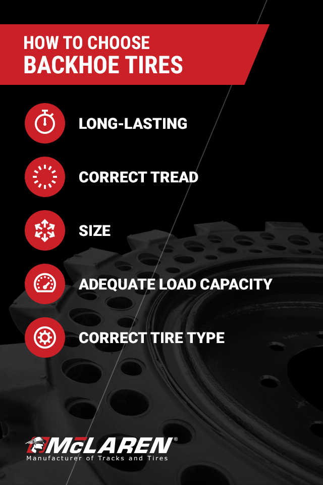 choosing among backhoe tire options