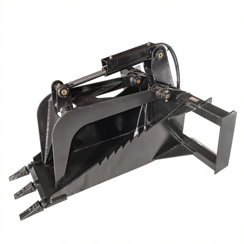hydraulic skid steer stump bucket