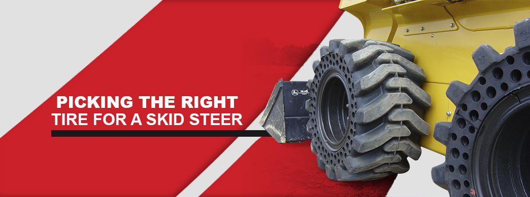 How to pick the right skid steer tires