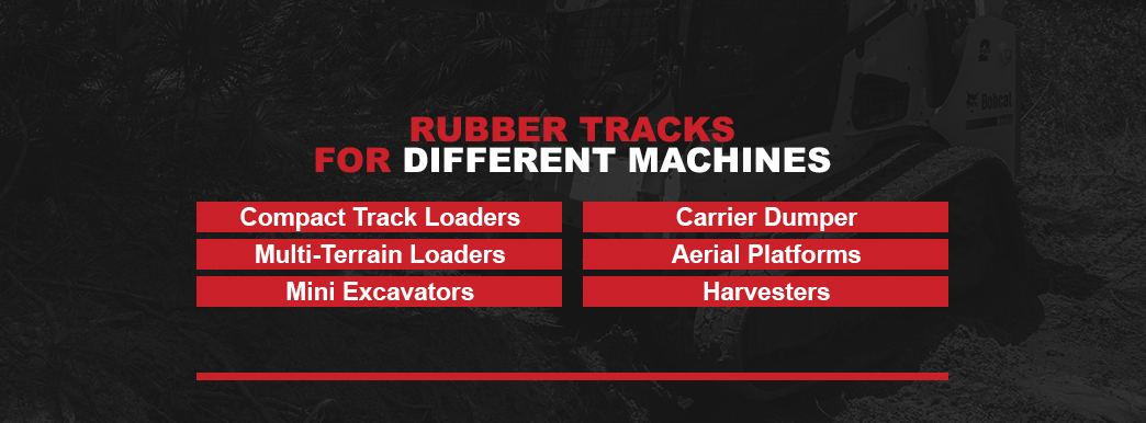 what machines use rubber tracks