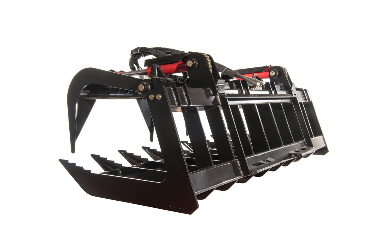 skid steer grapple bucket attachment