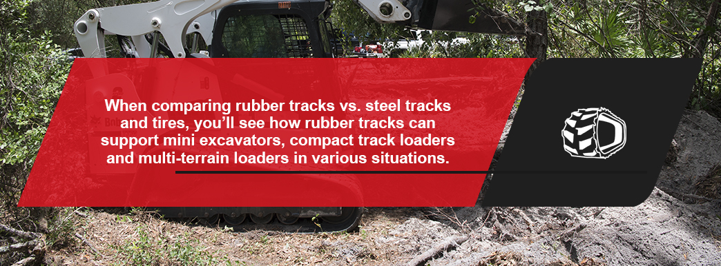 the benefits of rubber tracks