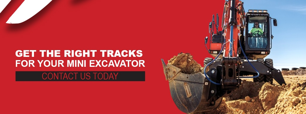 Buy the best tracks for your mini excavator