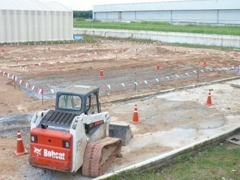 Testing field for rubber tracks