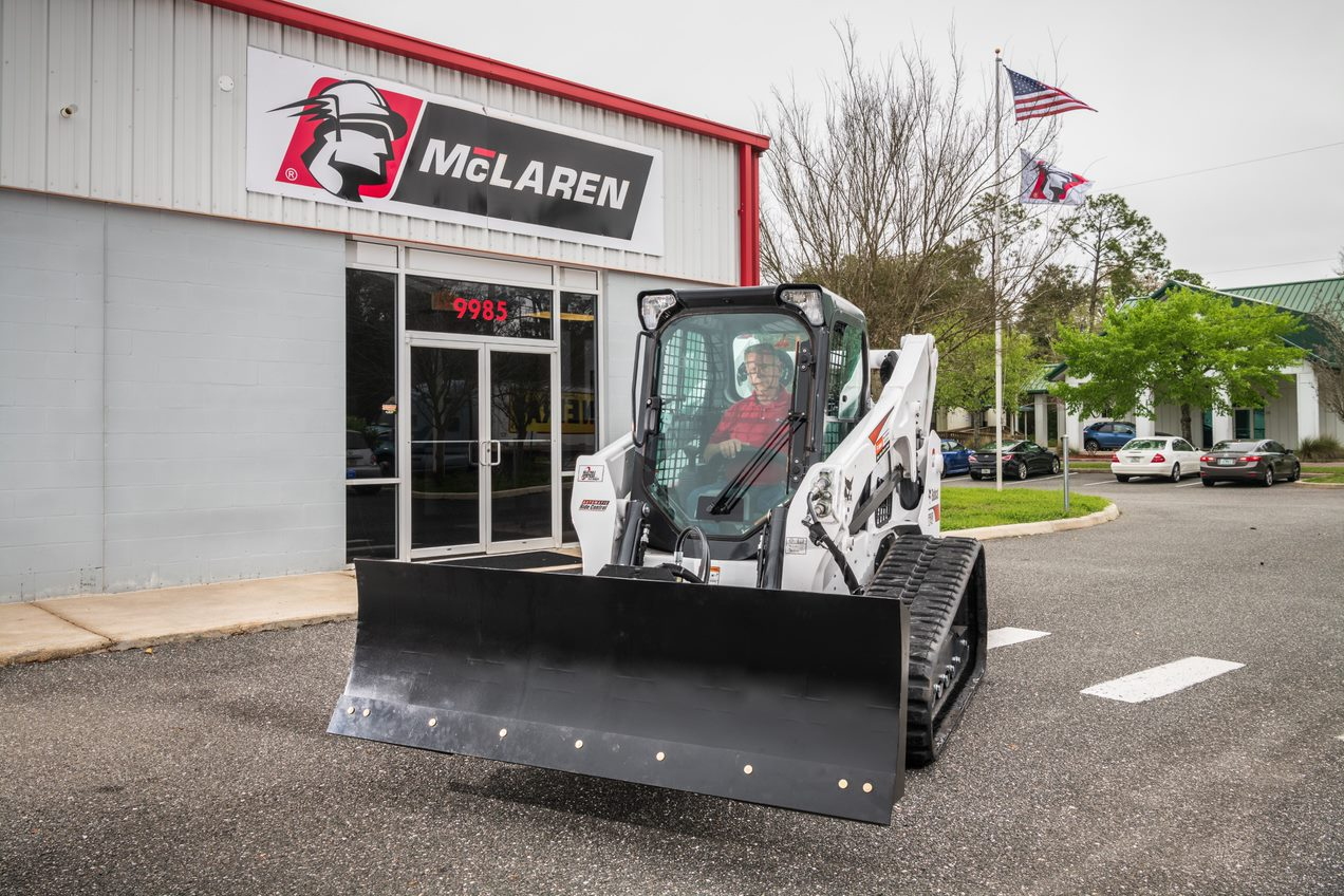 grader blade on skid steer loader