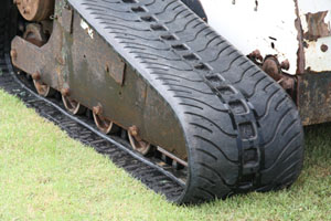Landscaping Equipment - A Bobcat compact trackloader with McLaren rubber tracks