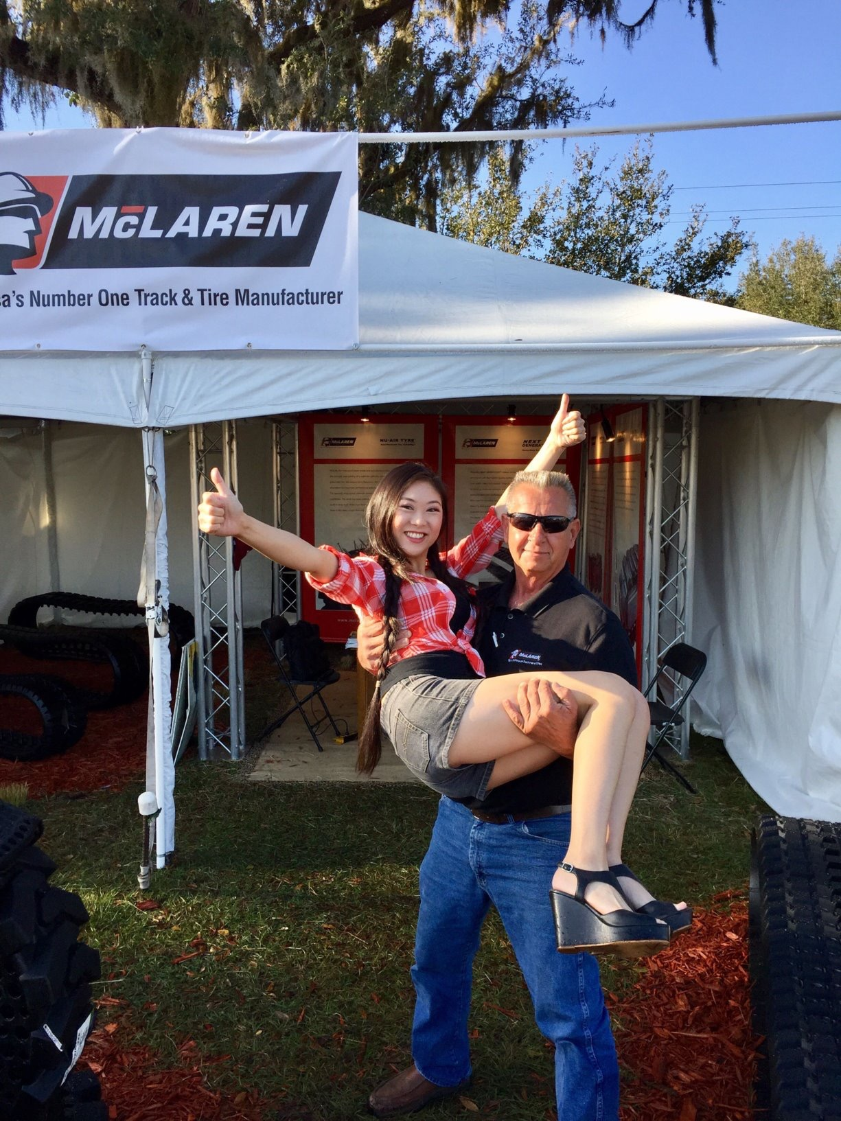 Kristal Lee (Chief of Staff) and Frank Machart (Florida Branch Office Manager) Showing their McLaren Spirit