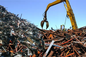 Scrap metal yard and waste management equipment