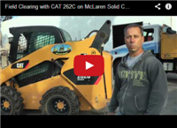 Field Clearing with CAT 262C on McLaren Solid Cushion Tires