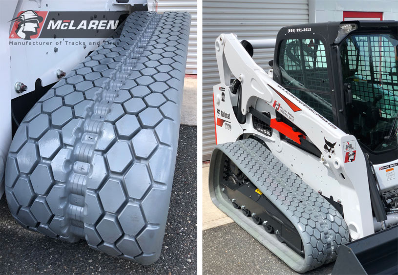 mclaren rubber tracks for equipment