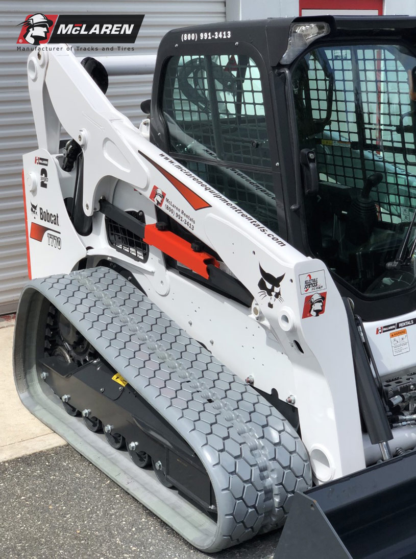 Compact loader replacement tracks