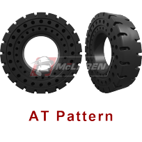 AT Pattern - Solid Cushion Tires for skid steers, backhoes, telehandlers, wheel loaders