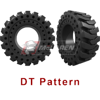 DT Pattern - Solid Cushion Tires for skid steers, backhoes, telehandlers, wheel loaders