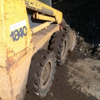 McLaren flat proof tire on Case 1840 skid steer loader