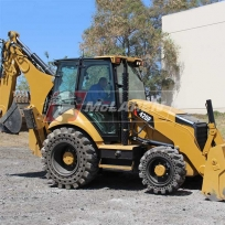 Flat proof tires on Cat 420F loader backhoe