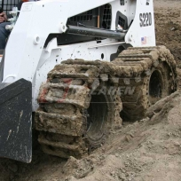 McLaren Diamond over-the-tire tracks on a Bobcat S220 skid steer loader