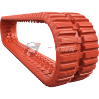 NextGenTDF non-marking orange rubber tracks for track loaders