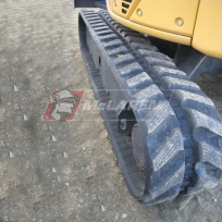 McLaren Next Generation Series rubber tracks on a John Deere 35D mini excavator