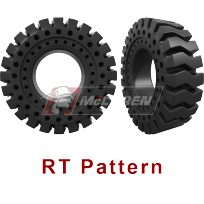 RT Pattern - Solid Cushion Tires for skid steers, backhoes, telehandlers, wheel loaders