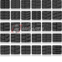 Rubber tracks tread patterns by McLaren Industries - Manufacturer of tracks and tires